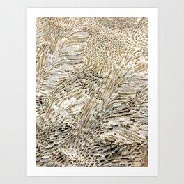 Digital Coral Design Art Print