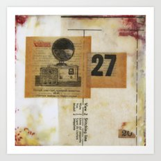 Twenty Seven Art Print