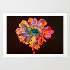 Psychedelic Floral Dew Art Print
