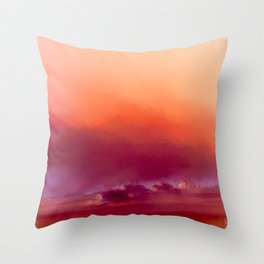 Winter-sun, in Iceland, Seltjarnarnes. Throw Pillow