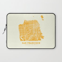 San Francisco City Map 03 Laptop Sleeve
