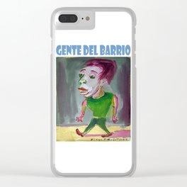 El pibe del gimnasio por Diego Manuel Clear iPhone Case