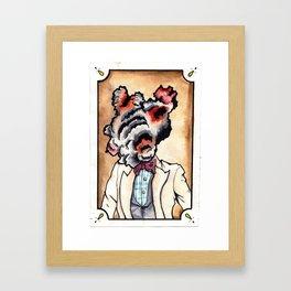 overthinking. Framed Art Print