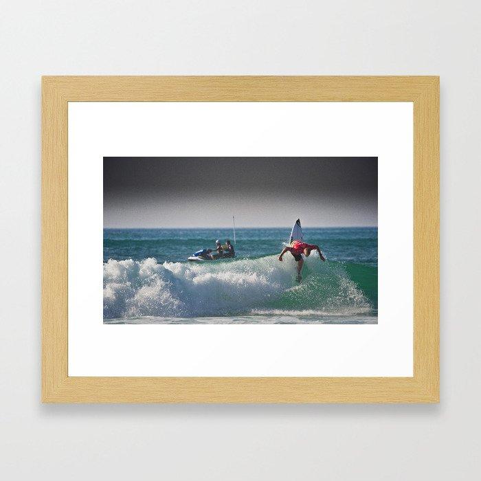Mick Fanning  Surf, Hossegor- France - 2013 Framed Art Print