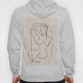 Abstract Minimalist Nude Woman III Hoody