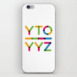YTO-YYZ iPhone Skin