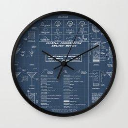 COCKTAIL CHART Wall Clock