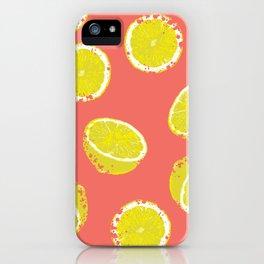 Lemon Textured iPhone Case