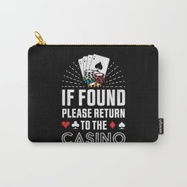 Return to the Casino Poker Gambling Gift Carry-All Pouch