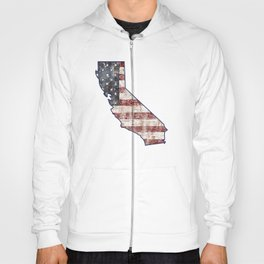 California State Map American Flag distressed rustic patriotic independence 4th of July Hoody