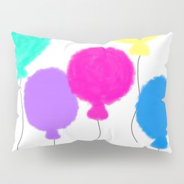 Fly Freely - Colorful Balloons Illustration Pillow Sham