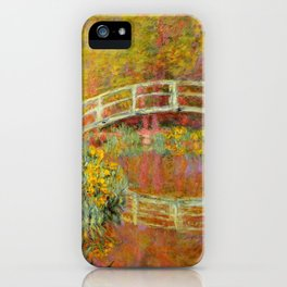 "Claude Monet ""The Japanese Bridge at Giverny"" iPhone Case"