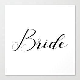 Bride - Black on White Canvas Print