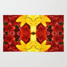 """""""A Gathering of Lilies"""" Remix - 1 (4-1) [D4465~12] Rug"""