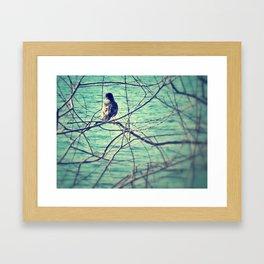 canary in a coal mine Framed Art Print
