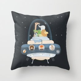 lets all go to space Throw Pillow