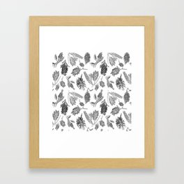 Black and White Australia Print Framed Art Print