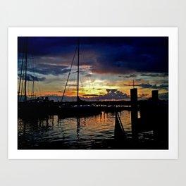 A New England Sunset. Art Print