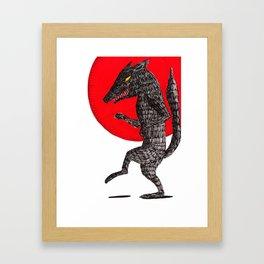 pas de loup Framed Art Print