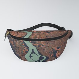 Portland, OR City Map Fanny Pack