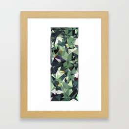 Martinique Low Poly Framed Art Print