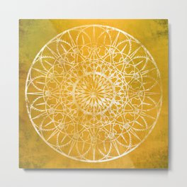 Fire Blossom - Yellow Metal Print