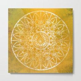 Fire Blossom - Yellow Metal Print