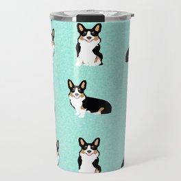 TriCorgis - Cute corgi, dog pet, corgi decor, corgi pillow, corgi bedding, corgi pattern, cute corgi Travel Mug