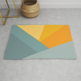 Abstract Mountain Sunrise Rug