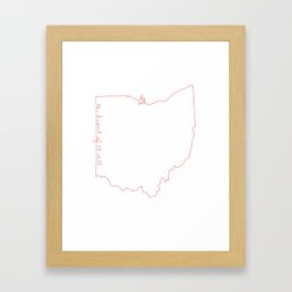Ohio is The Heart of it All Framed Art Print