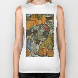 "Egon Schiele ""Crescent of Houses II (Island Town)"" Biker Tank"