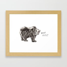 Grr! Framed Art Print