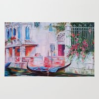 venice Area & Throw Rugs featuring Venice by OLHADARCHUK