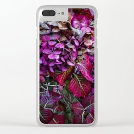 Holy Hydrangea VI Clear iPhone Case