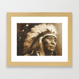 Chief Running Antelope - Native American Sioux Leader Framed Art Print