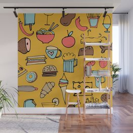 Food Frenzy yellow Wall Mural