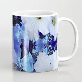 LONDON BLUE TOPAZ & WHITE PETUNIAS PATTERN Coffee Mug