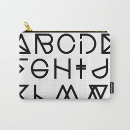 """Print """"Geometrical ABC"""" Carry-All Pouch"""