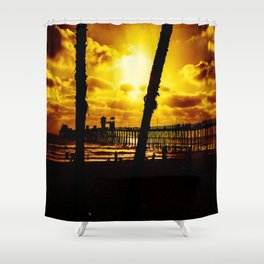 Saturday's Not In The Park (Oceanside Pier) Shower Curtain