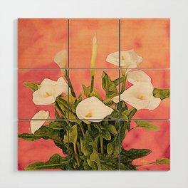 Monterey Calla Lilies Wood Wall Art