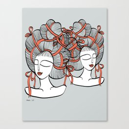 Tangled Ribbons Canvas Print
