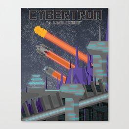 Cybertron Travel Poster Canvas Print