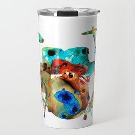 The Drums - Music Art By Sharon Cummings Travel Mug