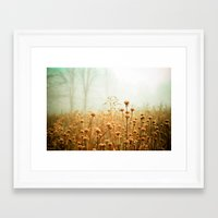 gray Framed Art Prints featuring Daybreak in the Meadow by Olivia Joy StClaire