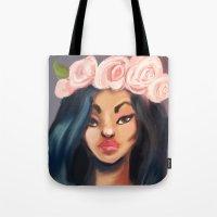 princess Tote Bags featuring Princess by Jaleesa McLean