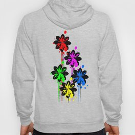 Multi coloured flower bouquet Hoody