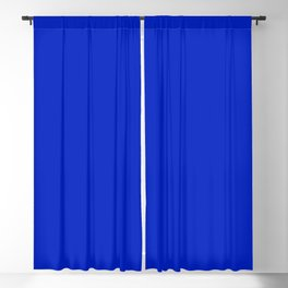 Solid Deep Cobalt Blue Color Blackout Curtain