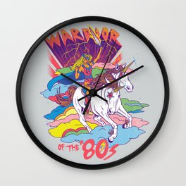Warrior of the '80s Wall Clock