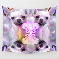 chihuahua Wall Tapestries featuring CHIHUAHUA by Riot Clothing