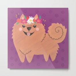 Pomeranian Princess Metal Print